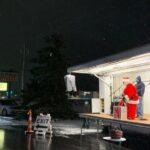 Santa Clause has the honor of lighting the Christmas Tree!