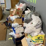 All the donations have been brought to the mediaBrew office before being picked up by the Jacobetti Home for Veterans staff.