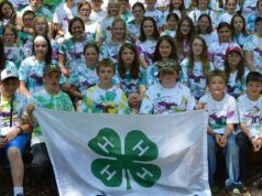 Marquette County 4H Youth Camp participants.