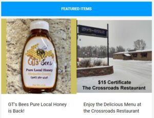 Get delicious food and local honey with this week's newsletter!