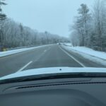 Ice tops the trees on I-75 before Negaunee's unprecedented January playoff game.