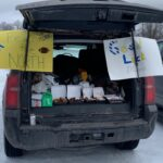 Negaunee fans made the 261 mile trip to support the Miners, and tailgated properly before the game.