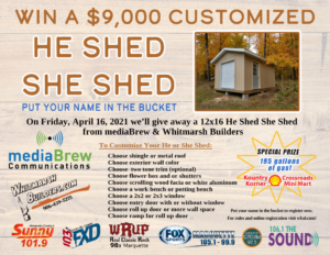 Enter to win the He Shed She Shed Giveaway!
