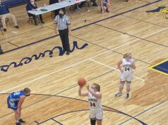 Negaunee's Morgan Carlson attempts a free throw.