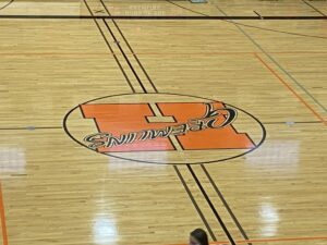 The game took place on Houghton's home floor.