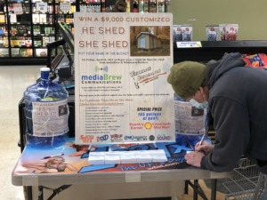 Win the He Shed She Shed by registering at Econo Foods.