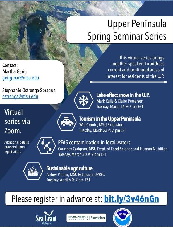 MSUE UP Spring Seminar Series 2021