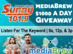Win $1000 with Sunny 101.9 and mediaBrew Communications