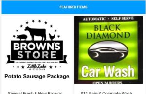 Get Brown's Store and Black Diamond Car Wash certificates!