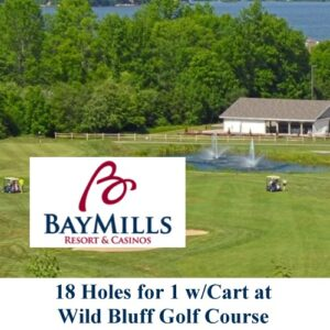 UPBargains.com – Deal of the Day: 18 holes with a cart at Wild Bluff Golf Course at Bay Mills $25 OFF!!!