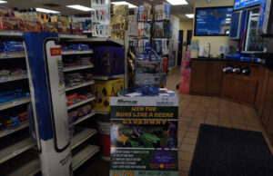Stop by Kountry Korner Shell in Gwinn to sign up for the Runs Like A Deere Giveaway!