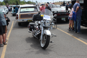 Our very own Bill Tibor brought the only motorcycle at the show!