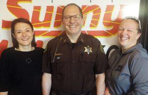 Zosia Eppensteiner, Sheriff Greg Zyburt and Deputy Jennifer Best
