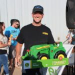 Carl Knofski of Harvey won the toy tractor!