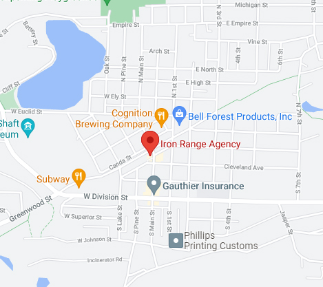 Iron Range Agency Google Map