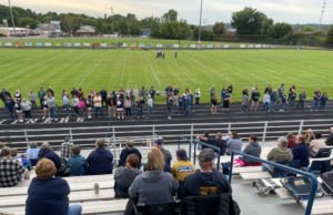 Negaunee fans overlook the field for Parents Night.