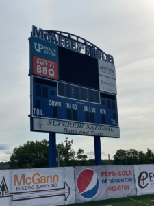 The game was played at Finlandia University's McAfee Field in Hancock.