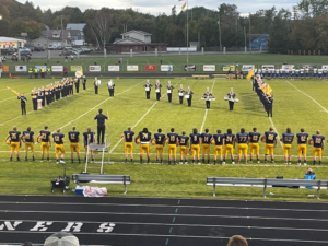 Negaunee marching band spells out the letter N