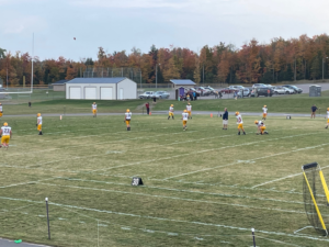 Negaunee gets in a good warm-up before Friday's win over L'Anse.